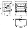 Печь камин чугунная (мультипечь) DOVRE 760 GM, фото 3