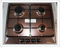 Механическая газовая варочная панель TELMA SPACE PCT604V Copper - 70 коричневого цвета