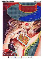 """""""Азартная Дама"""".  Схема для вышивки бисером"""