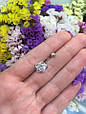 Серебряный пирсинг в пупок Цветок, фото 2