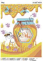 """""""Пчелиный мёд"""".  Схема для вышивки бисером"""