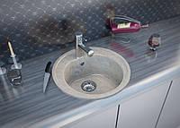 Одночашевая мраморная кухонная мойка модель Roma от производителя Moko цвет - marmo elegante, врезная