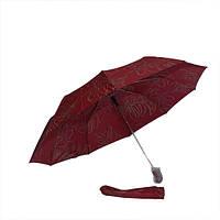 Зонт листья на красном 301-02