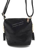 Стильная небольшая женская сумочка Б/Н art. 1517 черная