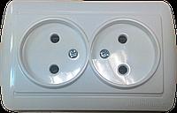 Розетка двойная без заземления ElectroHouse