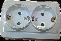 Розетка двойная с заземлением ElectroHouse