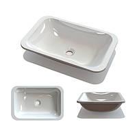 В ванную комнату умывальник Буль-Буль Aileenn 500C белого цвета без отверстия под смеситель и перелив
