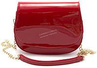 Оригинальная ярко красная лакированная женская сумочка Б/Н art. 208 красный