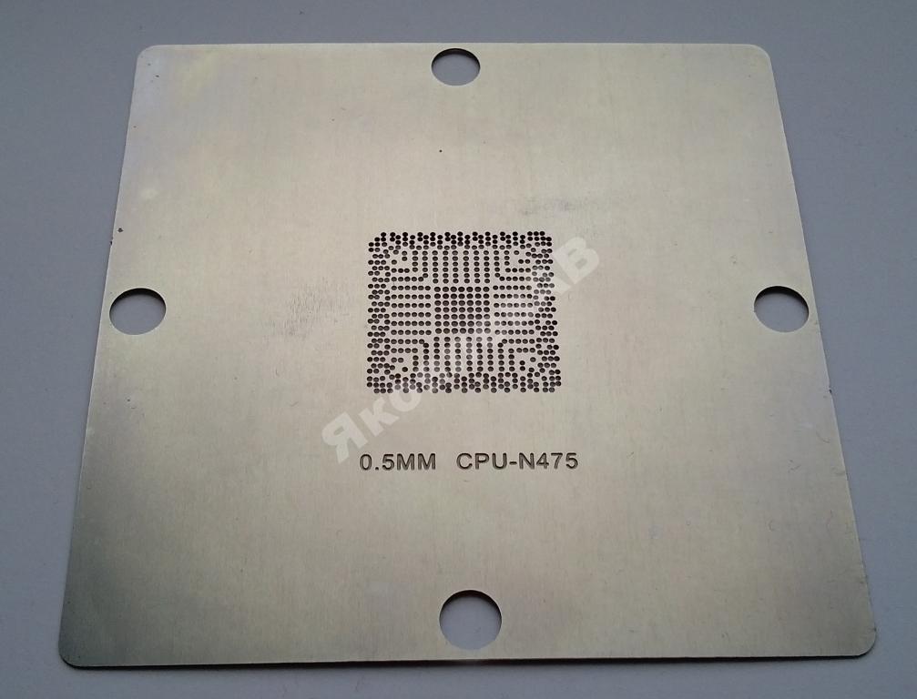 Трафарет BGA (80*80) CPU-N475,  N475, Q4KT, SLBX5
