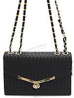 Оригинальный плетеный женский клатч-сумка Б/Н art. 923 черный