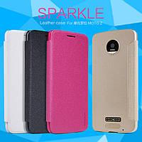 Шкіряний чохол Nillkin Sparkle для Motorola Moto Z (4 кольори)