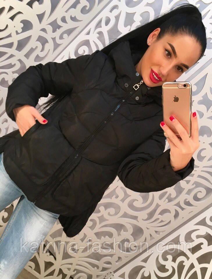 3b4ff01f463 Женская стильная демисезонная зимняя куртка удлиненная сзади