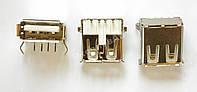 Коннектор USB, USB Гнездо (разъем) мама, Контакты 90 градусов. 1 шт.