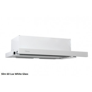 Вытяжка кухонная Fabiano Slim 60 Lux Белое стекло / White Glass