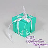 Бонбоньерка для конфет мятного цвета