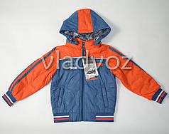 Детская демисезонная куртка ветровка  4-5 лет оранжевая 110р-116р