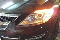 """Mazda CX-9 - замена моно линз на би-ксеноновые Moonlight ULTRA G6/Q5 3,0"""" D2S и установка гибких ДХО, фото 1"""