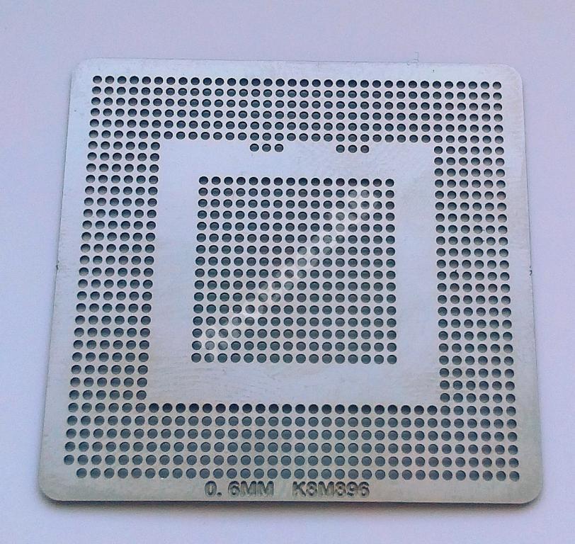 Трафарет BGA K8M890, K8M896, шар 0,6 мм