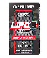 Lipo-6 Black Ultra Concentrate Nutrex 60 Black-Caps