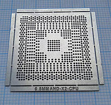 Трафарет BGA AND-X2-CPU, шар 0,5 мм