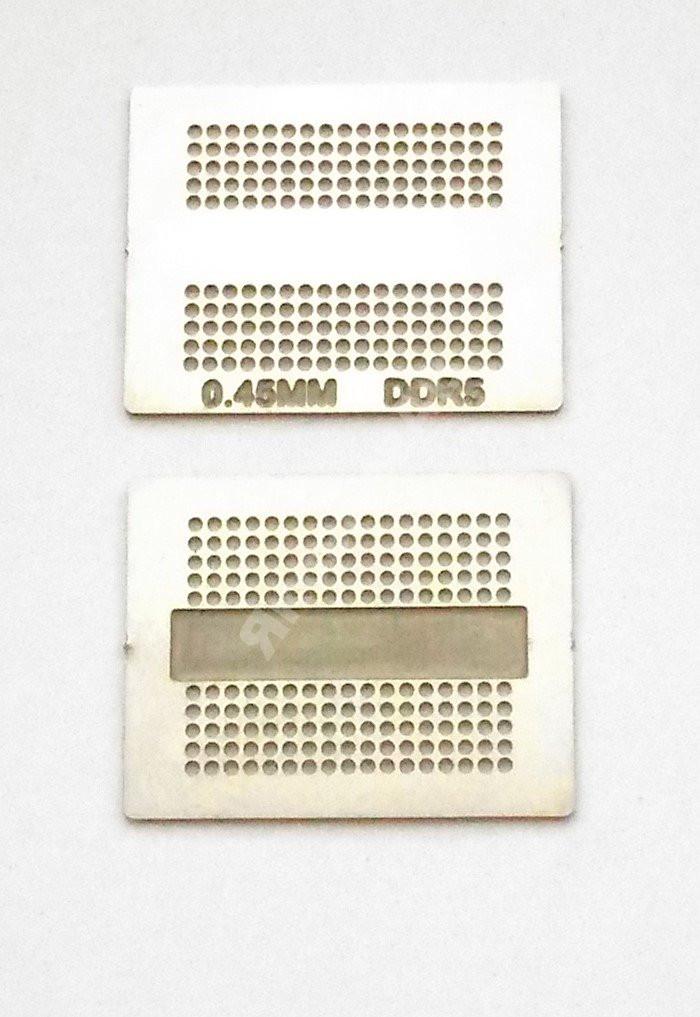 Трафарет BGA DDR5, шар 0,45 мм