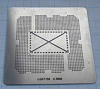 Трафарет BGA Socket LGA1156, шар 0,5 мм