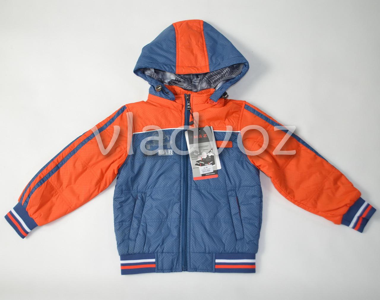 Детская демисезонная куртка ветровка  5-6 лет оранжевая 116р-122р