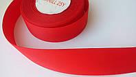 Лента репсовая 2,5 см красная