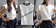 Белая стильная блузка школьная + подарок