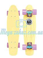 "Cкейт пенни борд (Penny Board) пенни Pastels Siries ""Пастельные оттенки"": Lemon, Fishskateboards, фото 1"