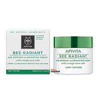 Кремы для лица Apivita Крем Apivita Bee Radiant от преждевременного старения кожи с легкой текстурой 50 мл