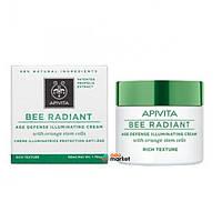 Кремы для лица Apivita Крем Apivita Bee Radiant от преждевременного старения кожи с насыщенной текстурой 50 мл