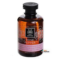 Защита и питание Apivita Гель для душа Apivita Роза и Перец с эфирными маслами 300 мл