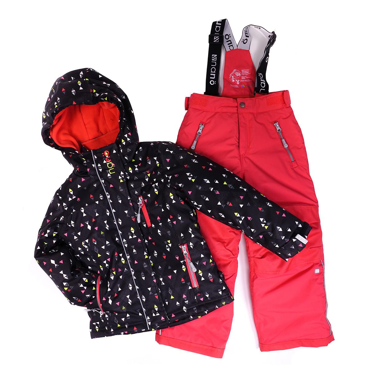 Костюм для девочки 266 M F16 Black / Coral Pink NANO