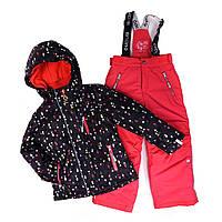 Костюм для девочки 266 M F16 Black / Coral Pink NANO, фото 1