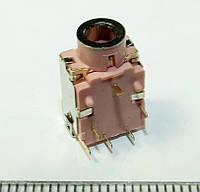 A032 Аудио разъем, гнездо под 3х контактный штекер 3,5 мм для ноутбуков и материнских плат 6PIN HP Dell Lenovо