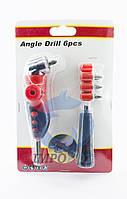 Угловой адаптер для бит Angle Drill + 4 биты