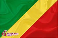 Флаг Республики Конго 80*120 см.,флажная сетка.,2-х сторонняя печать