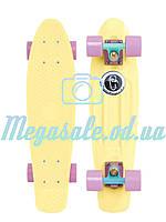 """Скейт пенни борд фиш (Penny Board) пенни Pastels Siries """"Пастельные оттенки"""": Lemon (лемонный), фото 1"""