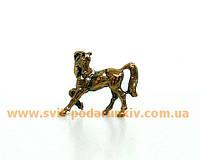 Сувенир бронзовая фигурка Лошадь на подставке в подарок