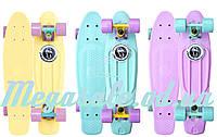 """Пенні борд фіш (Penny Board) пенні Pastels Siries """"Пастельні відтінки"""": марка Fishskateboards, фото 1"""