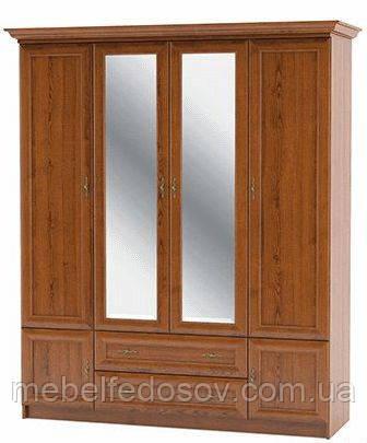 Даллас; шафа 4Д; каштан (Мебель сервис)