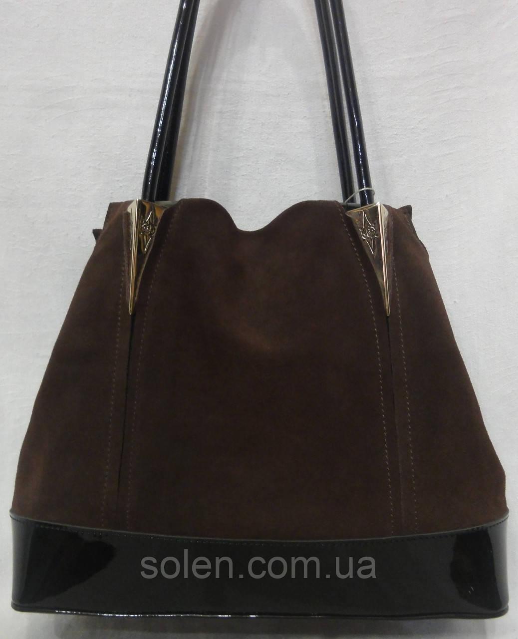 Женская сумка из натурального замша. 009dc6fbd74a5