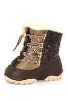 Зимние сапожки для детей Alisa LINE Manny (коричневые) р.20-25.