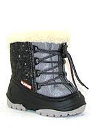 Зимние сапожки для детей Alisa LINE Manny (черные) р.20-25.