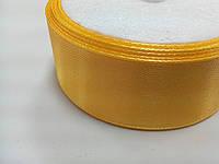 Лента атласная жёлтая, 25 мм