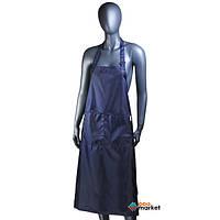 Одежда для парикмахера Rio Фартук Rio 100 см синий