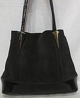 Женская сумка из натурального замша. шоколадный