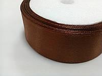 Лента атласная коричневая, 25 мм (для канзаши)
