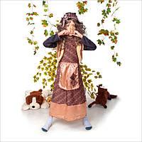 Детский карнавальный костюм Баба Яга с париком, костюм бабы яги, новогодний костюм бабы яги, дропшиппинг, фото 1